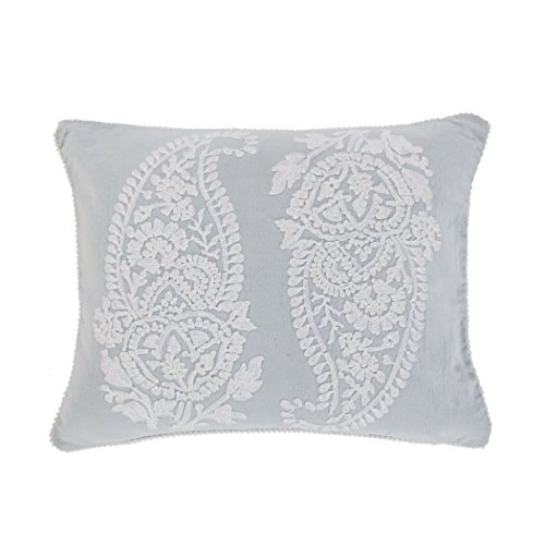 Lancaster Emb. Paisley Spa White Pillow by Levtex