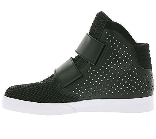 Nike Mens Flystepper 2k3 Prm Action Sneaker Casual Bianco Rosso Nero / Nero-bianco