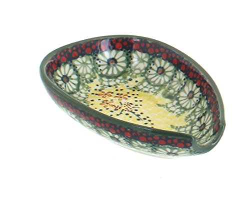 - Blue Rose Polish Pottery Sunshine Grotto Small Spoon Rest