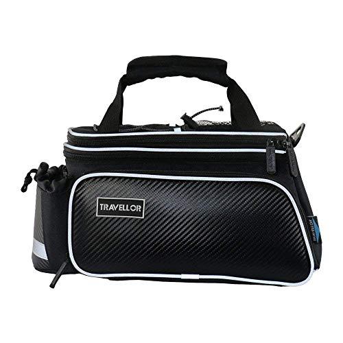 Bike Rear Bag Cycling Rack Rear Bag Zipper Pockets Bottle Case Bike Accessories for Road Mountain Bikes Black by Bicycleer (Image #4)