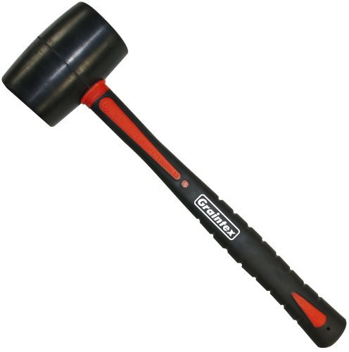Graintex RM1572 Rubber Mallet with Fiberglass Handle, 32-Ounce