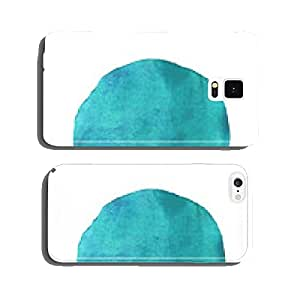 Blue circle watercolor isolated cell phone cover case Samsung S5