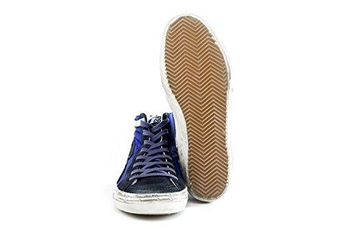 GOLDEN GOOSE Hi-Top Sneakers Uomo G30MS595.Q2 Scarpe SLIDE In Tessuto Blu