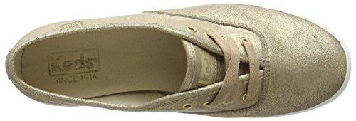 Keds Ch Met Leather Gold - Zapatos Mujer Dorado - Gold - Or - Doré