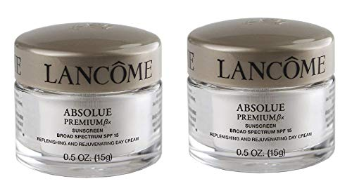 0.5 Cream Ounce Moisturizing (New! Lot 2 x Absolue Premium Bx SPF 15 Replenishing and Rejuvenating Day Cream, 0.5 oz each)