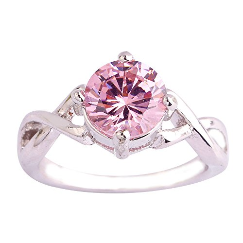 - Empsoul Women's 925 Sterling Silver Natural Fancy Plated 2ct Pink Topaz Infinity Symbol Engagement Ring