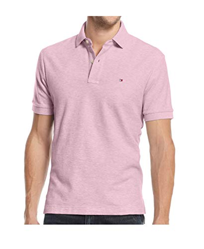 (Tommy Hilfiger Men's Classic Fit Polo (XX-Large, Pink Heather))