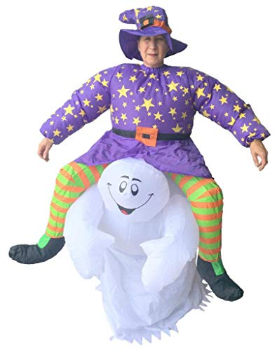Lannmart New Adult Inflatable Horrible Ride on Costume Halloween Cosplay Outfit Halloween Costume for Women -