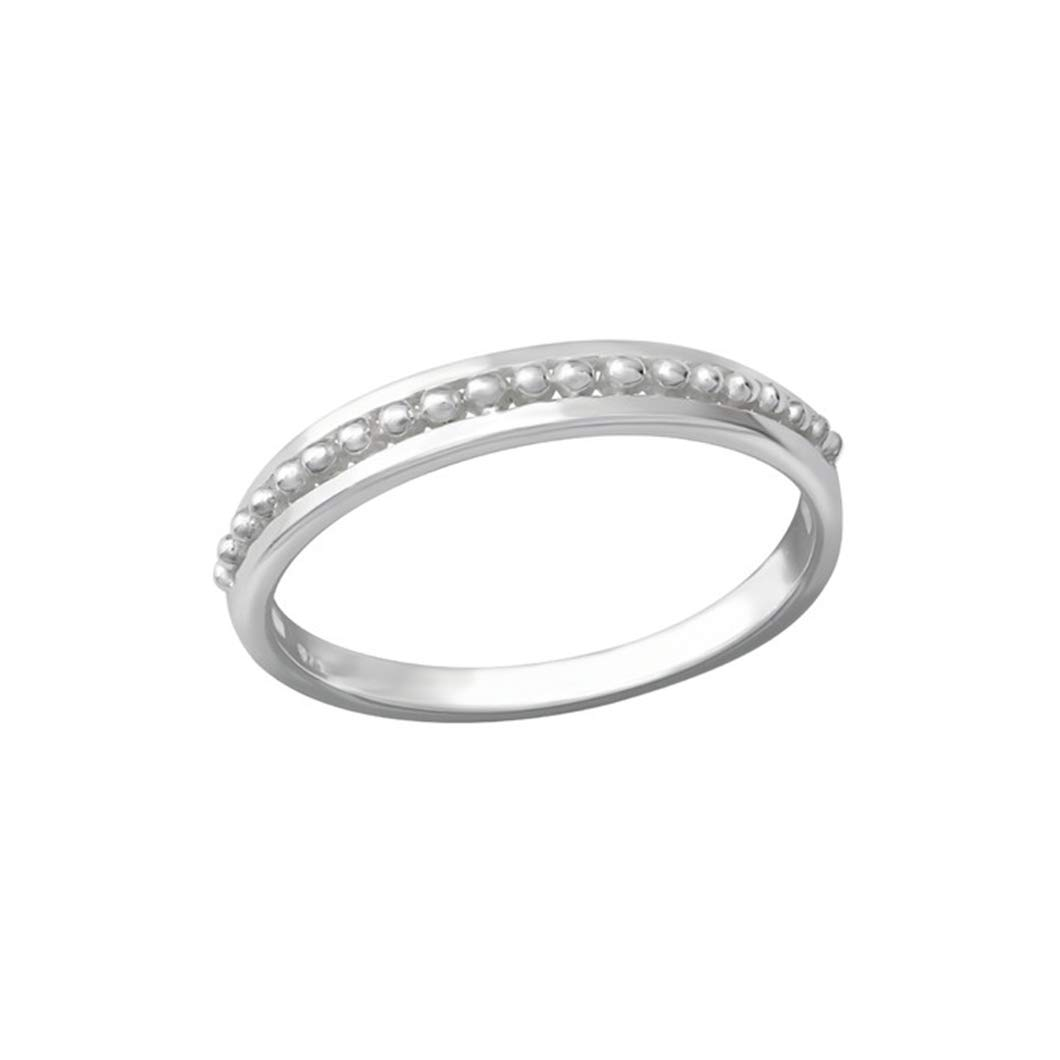 Polished Nickel Free Liara Patterned Plain Rings 925 Sterling Silver