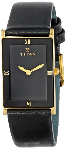 titan-unisex-291yl03-classique-watch-with-black-leather-band