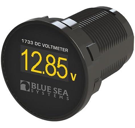Blue Sea Systems DC Digital Voltmeter Panel w//Meter