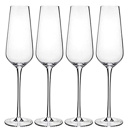 19ae98a94fcd WAITROSE Champagne Flutes Set 210ml 4 per pack  Amazon.co.uk  Kitchen   Home