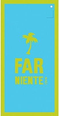 Incidence 85153 Drap de bain Ipanemaïa Farniente Bleu turquoise et vert  anis Serviette de plage Microfibre
