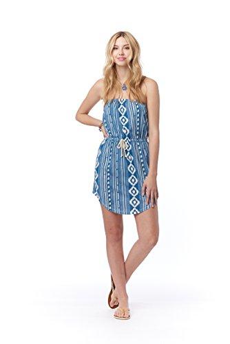 9fe62beff3 Lagaci Women's Aztec Summer Dress with Nautical Drawstring L Blue
