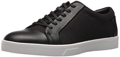 Calf Leather Sneaker (Calvin Klein Men's Igor Napa Calf Sneaker, Black, 13 Medium US)