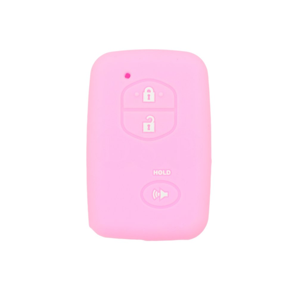 SEGADEN Silicone Cover Protector Case Skin Jacket fit for TOYOTA 3 Button Smart Remote Key Fob CV2404 Yellow