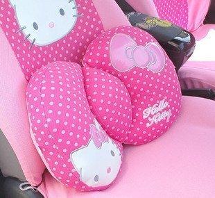 Hello Kitty Sanrio Comfortable Lumbar Back Cushion pink by H-M Shop by Hello Kitty by Maganpa