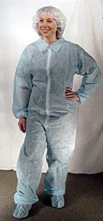 6f486f3d0b0 Image Unavailable. Image not available for. Color: Dukal 392XL Disposable  Coverall ...