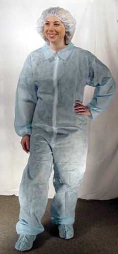 Dukal 382XXL Disposable Coverall, Non-Sterile, White, XXL (5 Bags of 5) (Pack of 25)