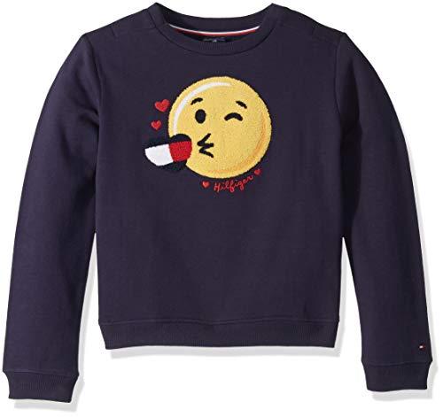 Tommy Hilfiger Girls Adaptive Sweatshirt with Hidden Touch Fasteners