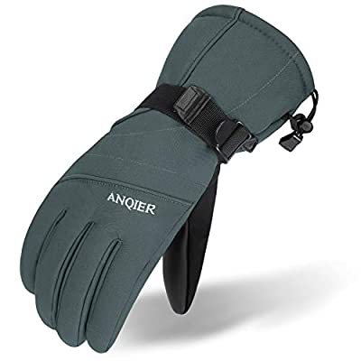 LANYI Mens Gloves Winter Waterproof Ski Gloves Thermal Thinsulate Snowboard Driving Snow Gloves Cold Weather Women Gloves