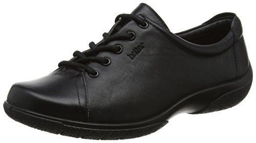 Hotter Originals Dew Extra Wide - Black Leather Womens Trainers 11 US by Hotter