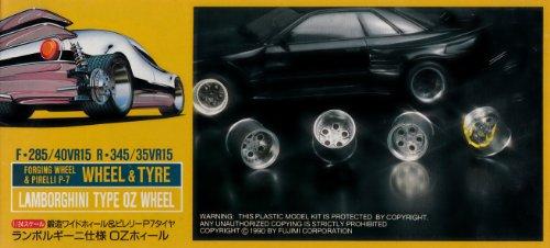 FUJ19121 1:24 Fujimi Lamborghini Type OZ Wheel & Tire Set MODEL KIT ACCESSORY