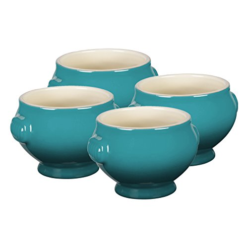 Le Creuset Heritage Caribbean Stoneware 20 Ounce Soup Bowl, Set of 4