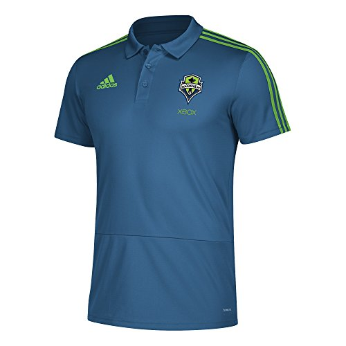 - adidas Men Sideline Coaches Polo, Capital Blue, Small