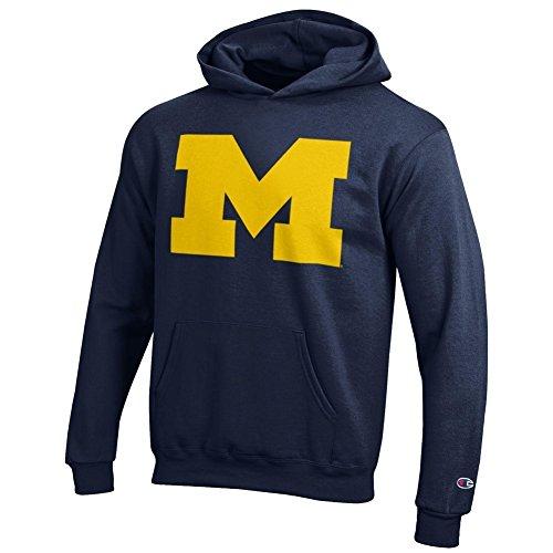 Michigan Wolverines Youth Kids Hoodie Sweatshirt Icon Navy - S - Navy (Wolverines Hoodie)
