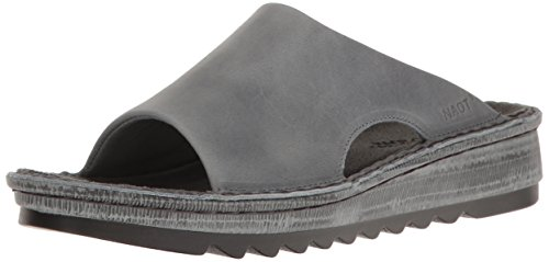 Naot Footwear Women's Ardisia, Vintage Slate Leather, 39 (US Women's 8) M (Leather Footwear Vintage)