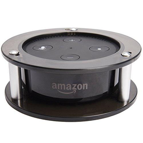 Acrylic Speaker Holder JACKYLED Speaker Stand Guard Clear Black Wall Mount Protective Holder for Echo Dot