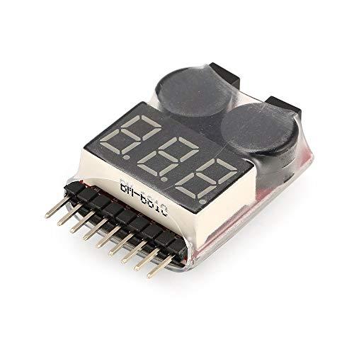 - 2In1 1 s-8 s Combination Low Voltage Buzzer Alarm Lipo Battery Voltage Tester