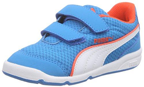Puma Stepfleex FS Mesh V Kids - Zapatilla Baja Unisex Niños Azul - Blau (atomic blue-white-red blast 01)