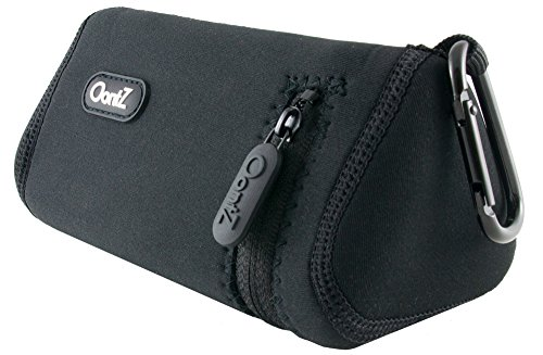 OontZ Angle 3 Bluetooth Speaker Official Carry Case, with Aluminum Carabiner, Neoprene Improved with Reinforced Zipper by Cambridge SoundWorks Black [NOT for OontZ Angle 3 Plus/OontZ Angle 3 ()