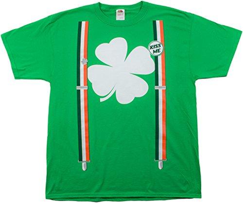 St. Patrick's Day Shamrock Suspenders | Funny St. Paddy Irish Unisex T-shirt