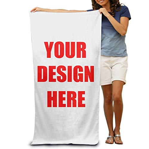 Spormall Beach Towels Printed with Text/Image/Photo Custom Bath Towel 31.5x51.2 inch,One Side Printed