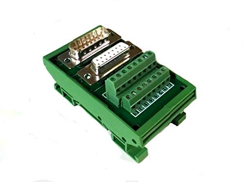 Perfect New DB15 D Sub Din Rail Mount Breakout Board Male/Female Connectors from IA_TOM