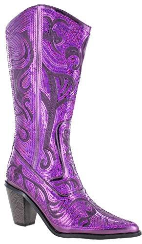 Helens Heart Bling Boots (9, Purple)
