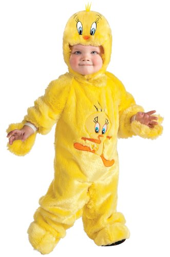 Looney Tunes Tweety Bird Romper Costume, Yellow, 12-18 -