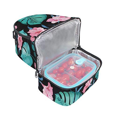 Tropical Folpply avec à Imprimé l'école Cooler à Pincnic bandoulière isotherme floral Boîte pour lunch Sac Summer réglable Tote wFrP5qTw