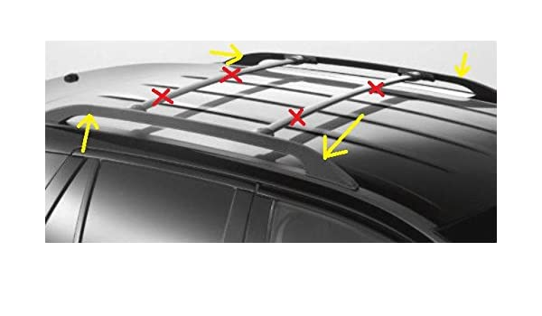 Oem Factory Stock Genuine     Ford Edge Side Roof Rails Bars Luggage Rack Kit