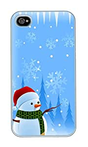 iPhone 4 Case,iPhone 4S Case,VUTTOO iPhone 4 Cover With Photo: Christmas For Apple iPhone 4/4S - PC White Hard Case