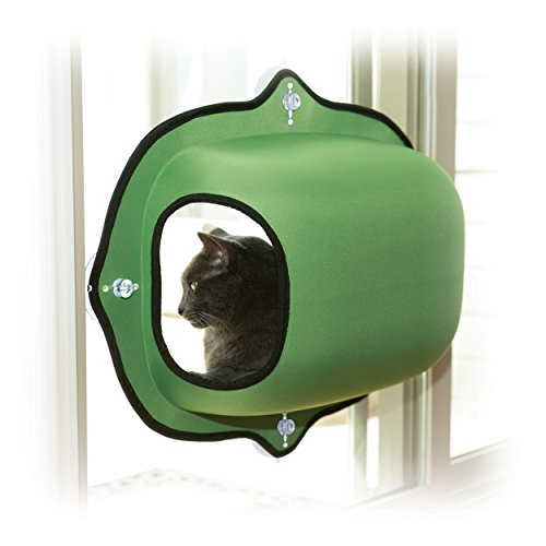 "K&H Manufacturing EZ Mount Window Pod Kitty Sill Green 27"" x 20"""