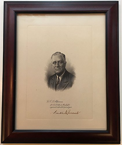 Signed Framed Embossed Panel Engraving