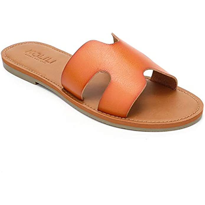 KOLILI Womens Flat Slide Sandals, Summer Fashion Sandals, Comfy Style | Warm-weather Favorite