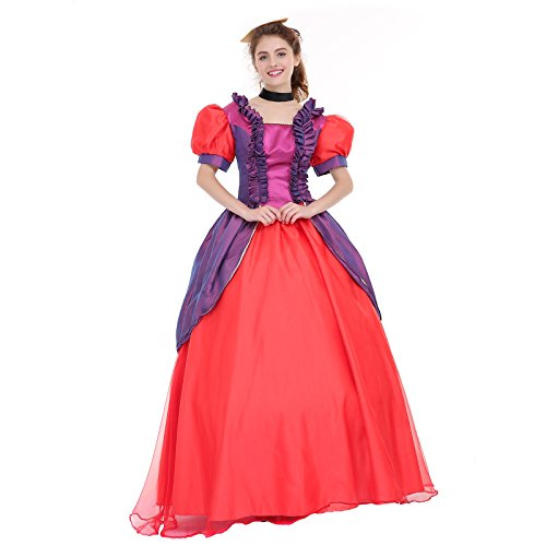 Angelaicos Womens Vibrant Color Layered Elegant Costume Dress Petticoat (M, Purple Red)]()