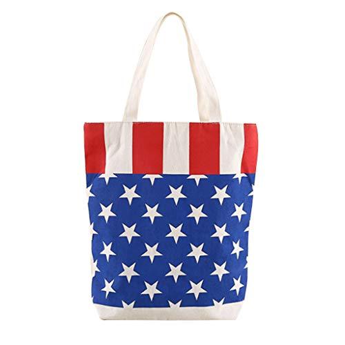 - PATHSIDE American Flag Stars and Stripes Handbag Funny Design Canvas Tote Bag Handbag Purse Canvas Tote Carrying Bag Shopping Bag Security Work Tote (A)