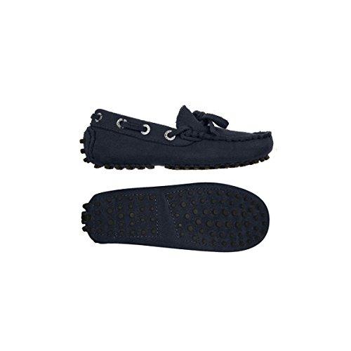 Superga 487-SUEJ S003380 - Zapatos de ante para niño azul