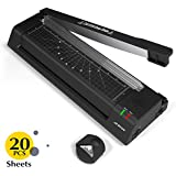JZBRAIN 13'' Thermal Laminator Machine for A3 A4 A6 Two Roller Technology with Jam- Free Function Fast Speed Thermal Laminating Machine with Trimmer and Corner Rounder for Home Office School (Black)